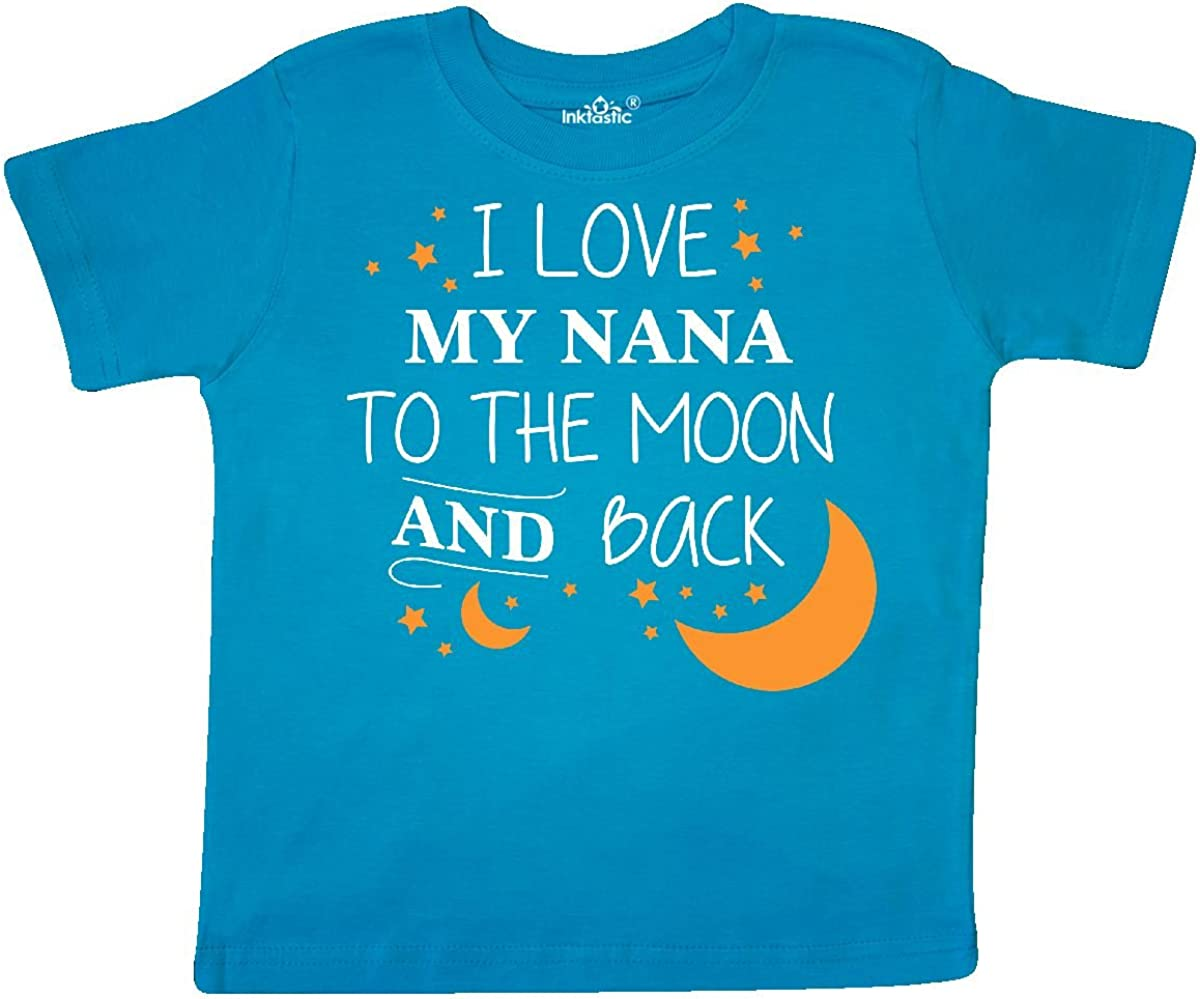 B06XSZ8T9P inktastic I Love My Nana to The Moon and Back Toddler T-Shirt 3T Turquoise 618m2BUqKmOL
