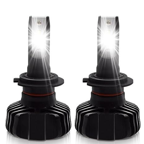 LncBoc H7 Faros LED Bombilla 9000LM(4500LMx2) Bombillas de Faros de Coche 6500K LED
