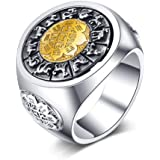 Shi Wu Solid 999 Sterling Silver Dragon Tiger Ring The Chinese Four Mythic Beasts Ring Silver Good Luck Ring Fengshui Lucky Handmade Jewelry