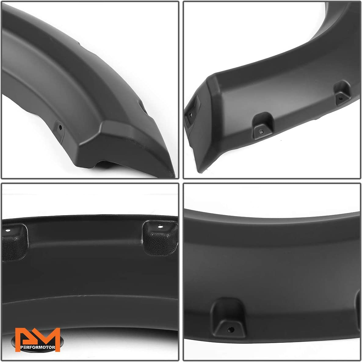 Textured Pocket-Rivet Wheel Fender Flare Compatible with Ford F150 Styleside Bed 09-14
