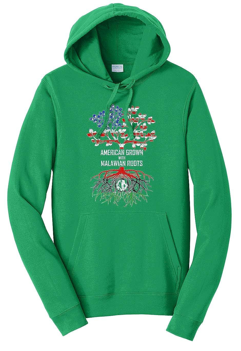 Kelly Green Medium Tenacitee Unisex American Grown with Malawian Roots Sweatshirt Hoodie