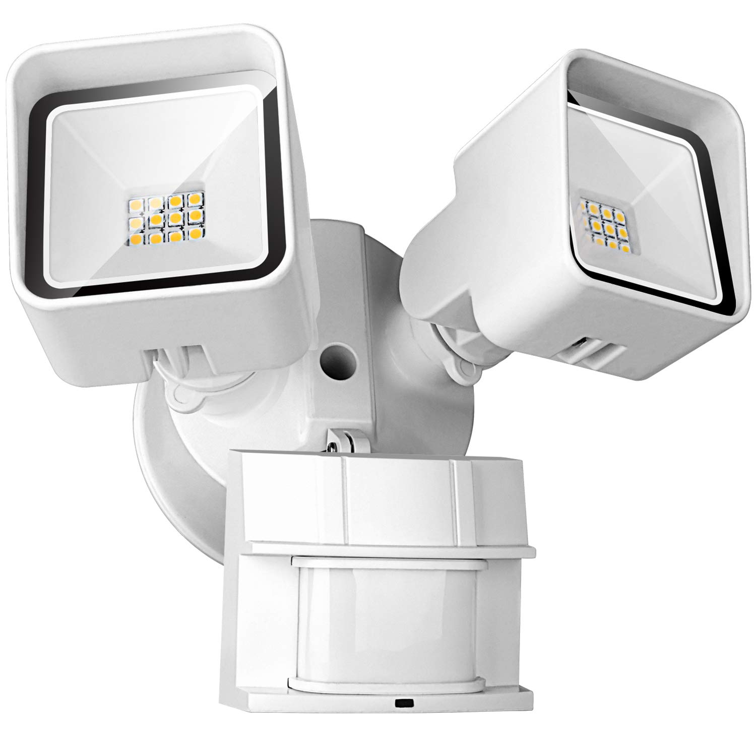 FrenchMay LED Motion Sensor Security Light, 20W 2000 Lumens, 5000K, 250W Equivalent IP65 Waterproof and Weatherproof, ETL/DLC Approved outdoor Flood Light, with Adjustable Sensor, White