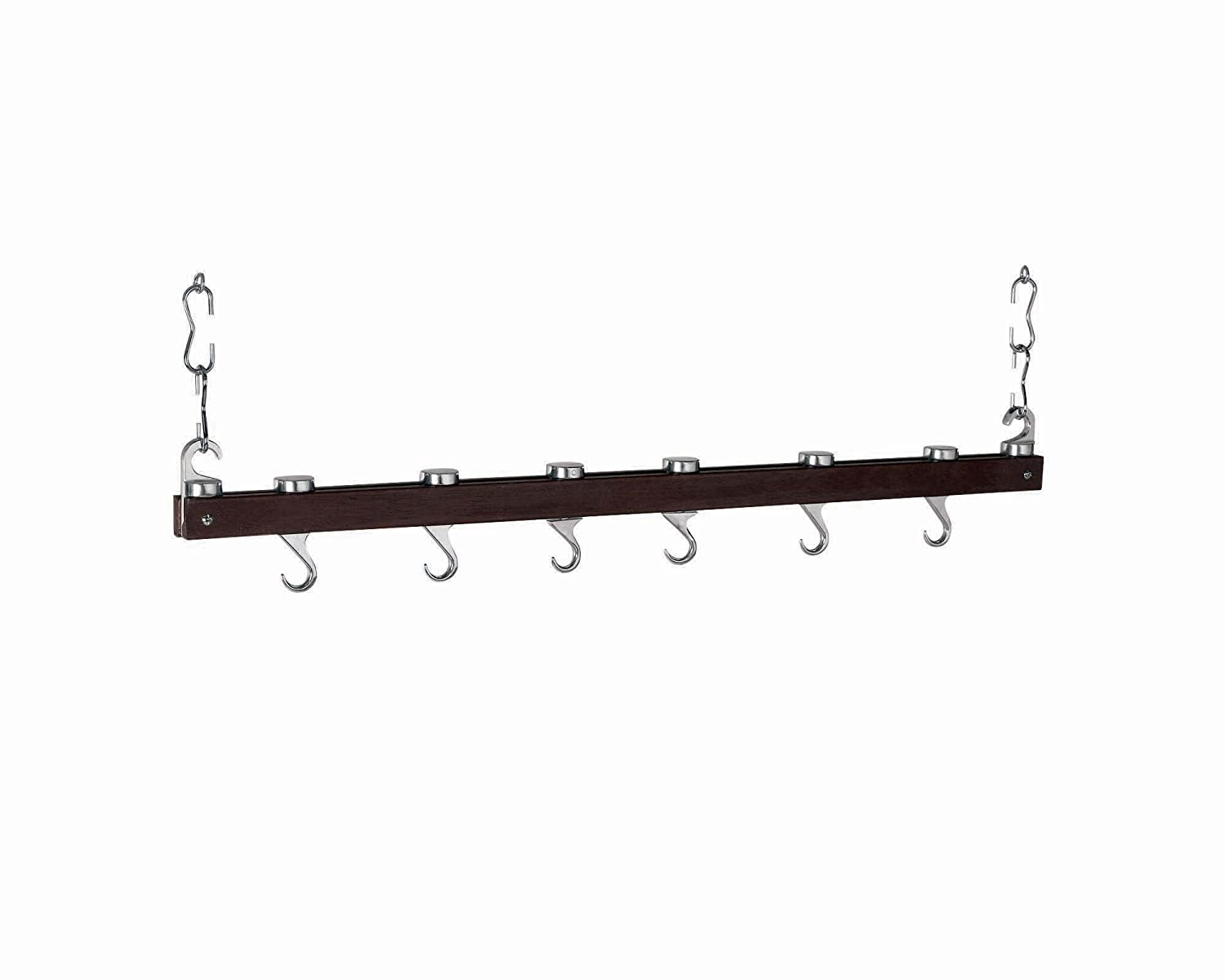 Concept Housewares PR-40219 Chrome-Innovative 36-Inch Dual Track Ceiling Kitchen Rack