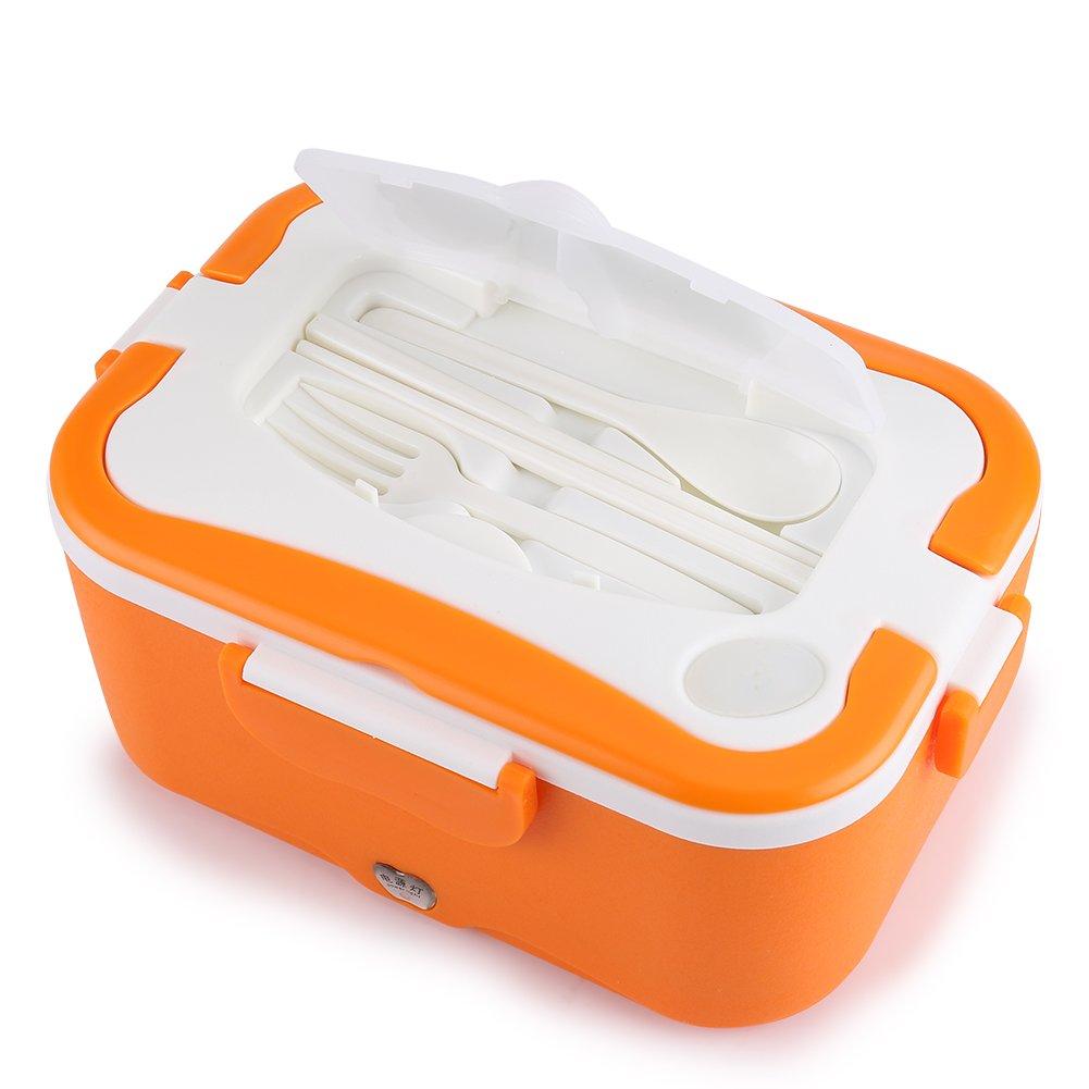 24V Coche Caja de almuerzo de calefacci/ón el/éctrica Bento Contenedor de comida caliente para viajar 12V-Azul Akozon Caja de almuerzo de calefacci/ón 1.5L port/átil de acero inoxidable de 12V