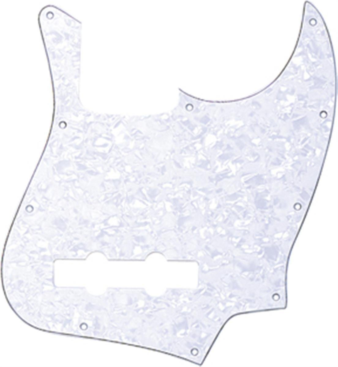 Jazz bass American standard pickguard 4ply pearl white fits fender new