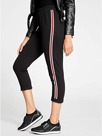 info for special discount 100% quality G by GUESS Women's Dixie Striped-Trim Sweatpants at Amazon ...