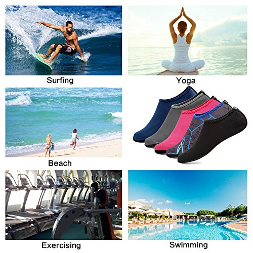 Yoga Water Water Surf Navy Shoes Sand Sole Pool Aqua Barefoot Upgraded Aerobics Socks CIOR Swim For Beach Skin Durable xIqZag4
