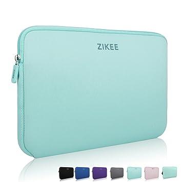 "Zikee Funda protectora para portátiles de 15 15.6"" Verde Claro Estuche protector de neoprene,"