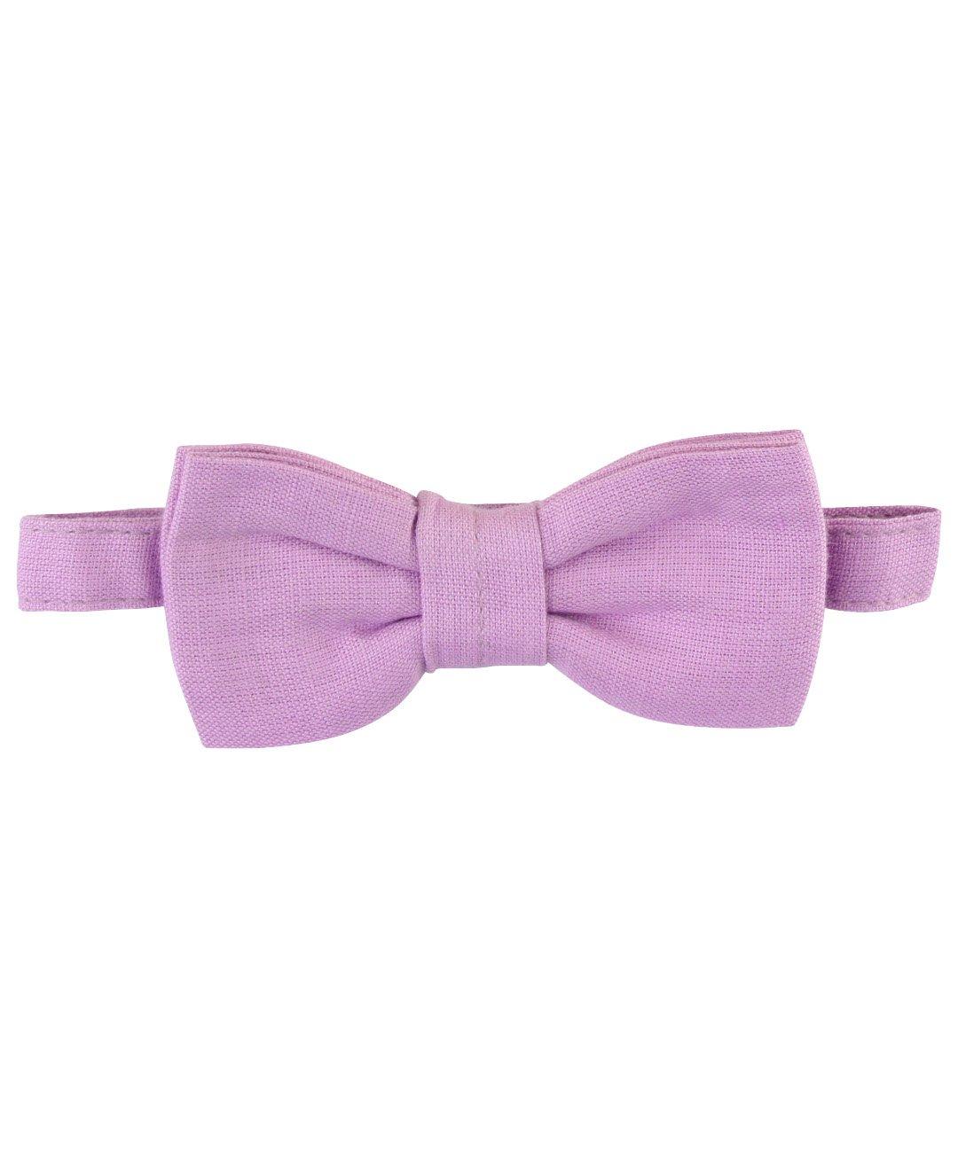 RuggedButts Little Boys Lilac Linen Blend Bow Tie - 2T-4T