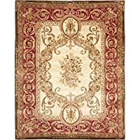 Safavieh Empire Collection EM415A Handmade Traditional European Light Gold and Red Premium Wool Area Rug (5 x 8)