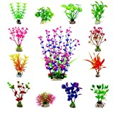 buy CEWOR 13pcs Artificial Aquarium Plants Plastic Water Plant Fish Tank Decorations (13 Different Styles) now, new 2019-2018 bestseller, review and Photo, best price $20.99