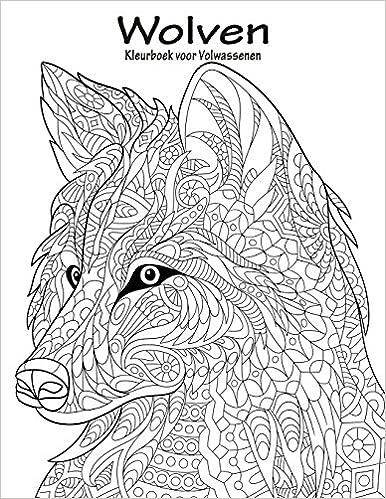 Kleurplaten Volwassenen Wolf.Amazon Com Wolven Kleurboek Voor Volwassenen 1 Volume 1