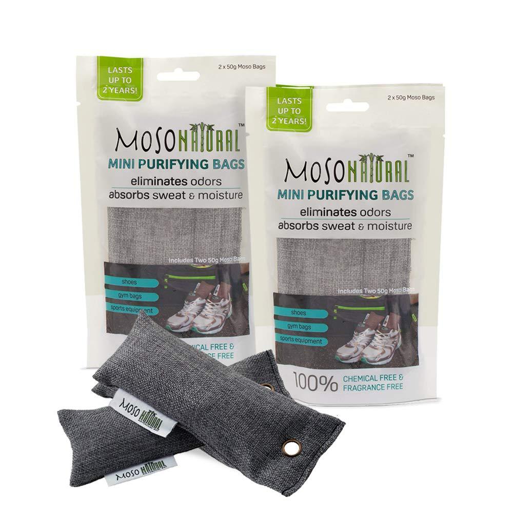 Moso Natural Air Purifying Bag 4 Pack Bamboo Charcoal Air