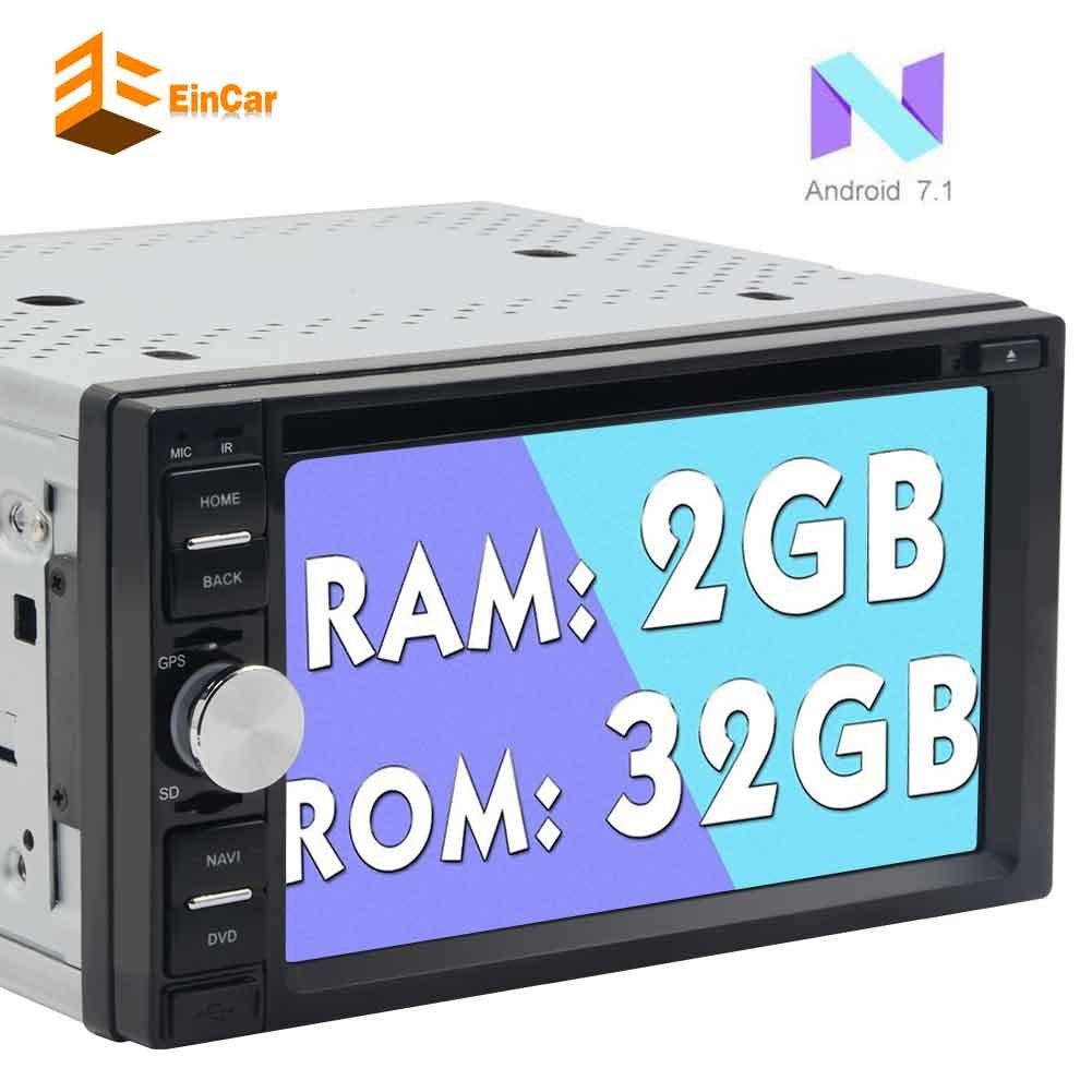 EinCarダブルオクタコア6.2とディンのAndroid 7.1カーDVDプレーヤー「」HDタッチスクリーンカーステレオGPSナビゲーションでは、Bluetoothラジオレシーバーサポート1080Pビデオ/無線LAN / Mirrorlink / OBD2 / SWコントロールをダッシュ B077MFWCSX