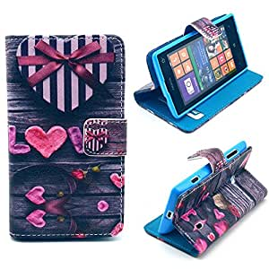 Nokia N520 Lumia,Ezydigital Carryberry Nokia N520 Lumia Case Cover PU Leather Folio Flip Cute Pattern Case Cover for Nokia lumia 520