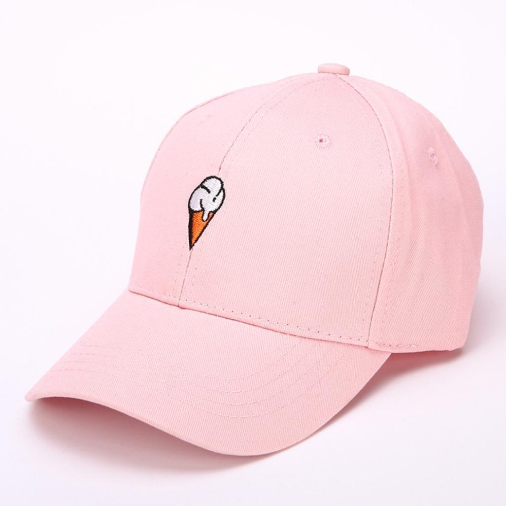 alimaoメンズレディースPeaked帽子Hiphop Curvedストラップバックスナップバック野球キャップ調整可能 B071PDLJHX ピンク ピンク