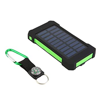 Zinniaya 3500mAh Dual USB Cargador de batería Solar portátil ...