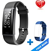 Lintelek Boys' 1 Fitness, Customized Activity Tracker with 14 Sports Modes,Heart Rate Smart Watch Bluetooth Pedometer for Men, Women and Child with Free Band