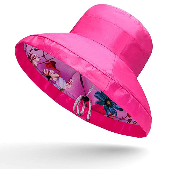 Sombrero de Playa Grande de Doble Cara de Verano Mujer 1-3 ...