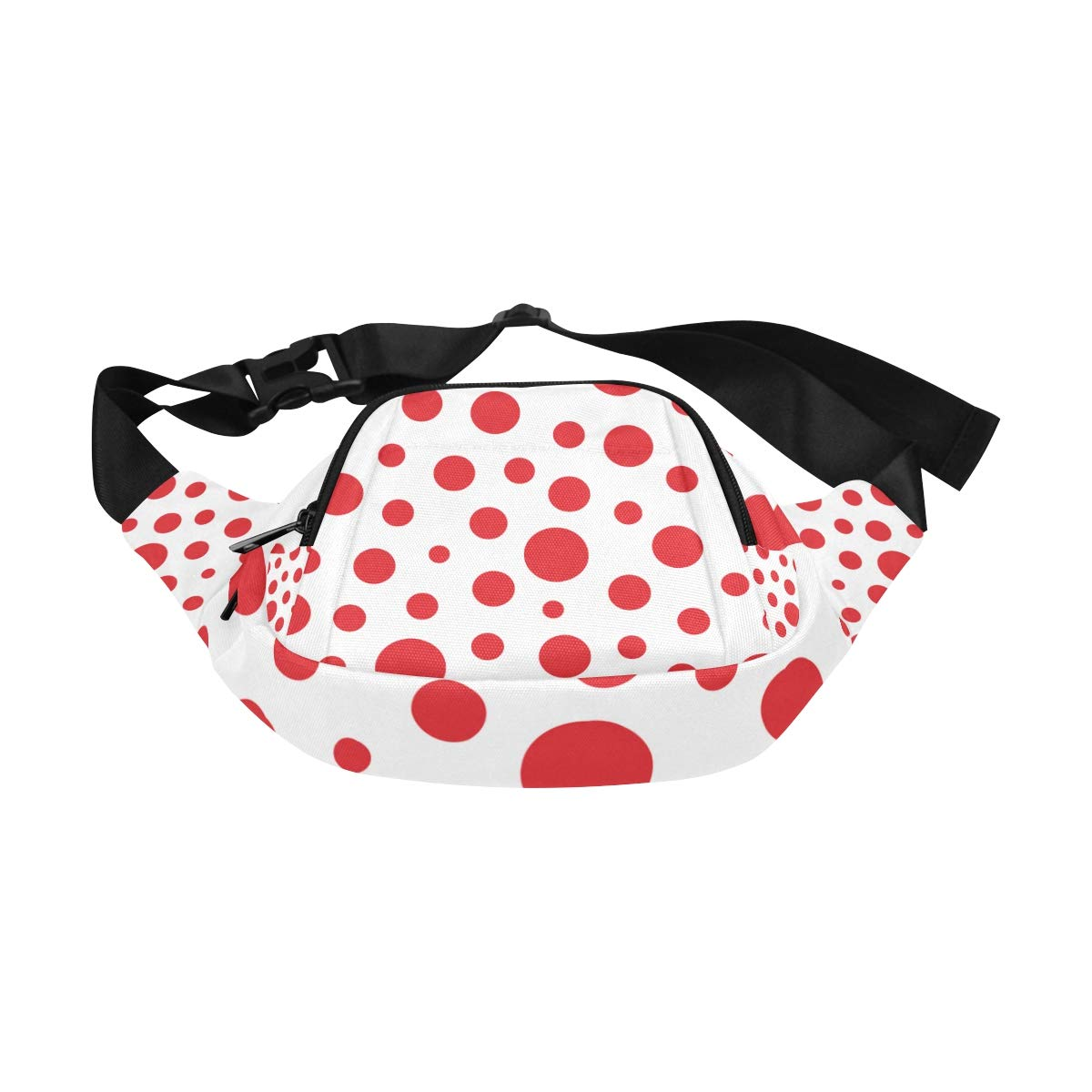 Big Circles And Dots Of Red Color Fenny Packs Waist Bags Adjustable Belt Waterproof Nylon Travel Running Sport Vacation Party For Men Women Boys Girls Kids