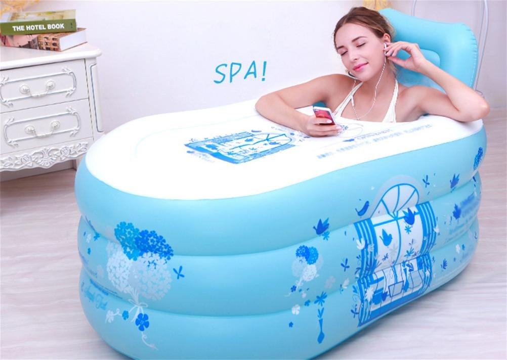 FACAI888 Inflatable Bathtub / Adult Bathtub / Bathtub Bathtub / Plastic Bathtub - Folding Thickening aike