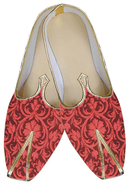 INMONARCH Hombres Precioso Rojo Zapatos de Boda MJ0065 37.5 EU