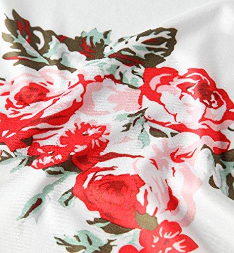 cubre Blanco Mantón Tops para Tkiames kimono Mujeres irregular raya abrigo Cardigan de 4TqBfaq