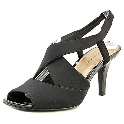 Bandolino Womens malorie Open Toe SlingBack Classic Pumps Black fb Size 9.5