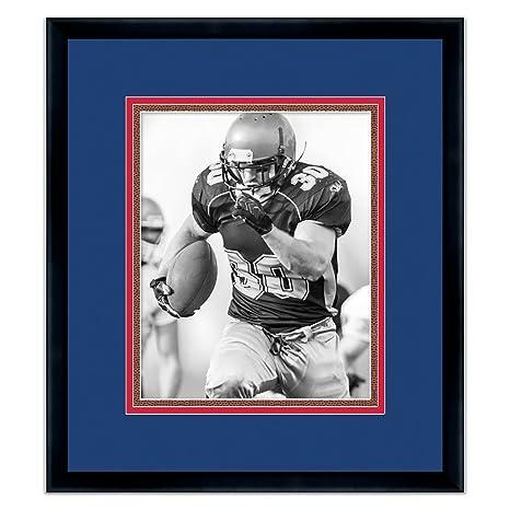 Amazon.com: Buffalo Bills Black Wood Frame For a 8x10 Photo with a ...