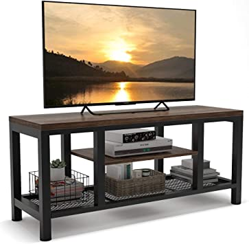 "LITTLE TREE 59/"" Entertainment Center TV Stand Media Stand Console Table Shelves"