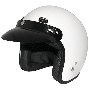 ZOX Classic adultos Harley casco para Moto Touring – sólido brillante Color blanco