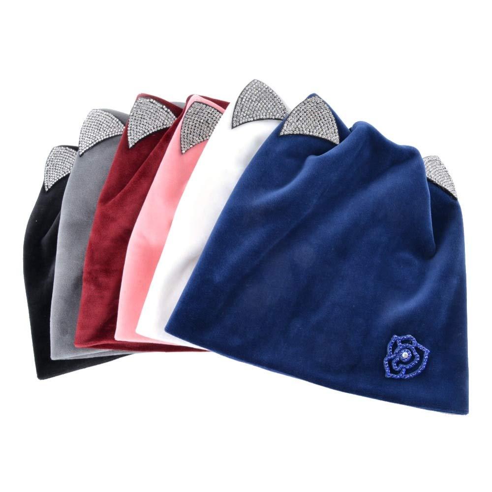 Amazon.com: HOKUGA 2018 Cat Ear Skullies Beanies Hats Winter Knitted Hat Scarf Winter Hats For Women Caps Gorras Bonnet Bone Mask Hats DH28T: Beauty