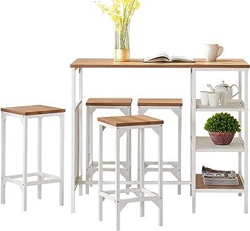 Amazon Com O K Furniture 5 Piece Dining Room Bar Table Set