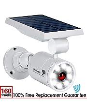 Solar Motion Sensor Light,1400-Lumens Bright LED Spotlight 5W(110W Equiv.) DrawGreen Solar Lights Outdoor Wireless Security Lighting for Porch Patio Garden,Aluminum Solar Powered Lights