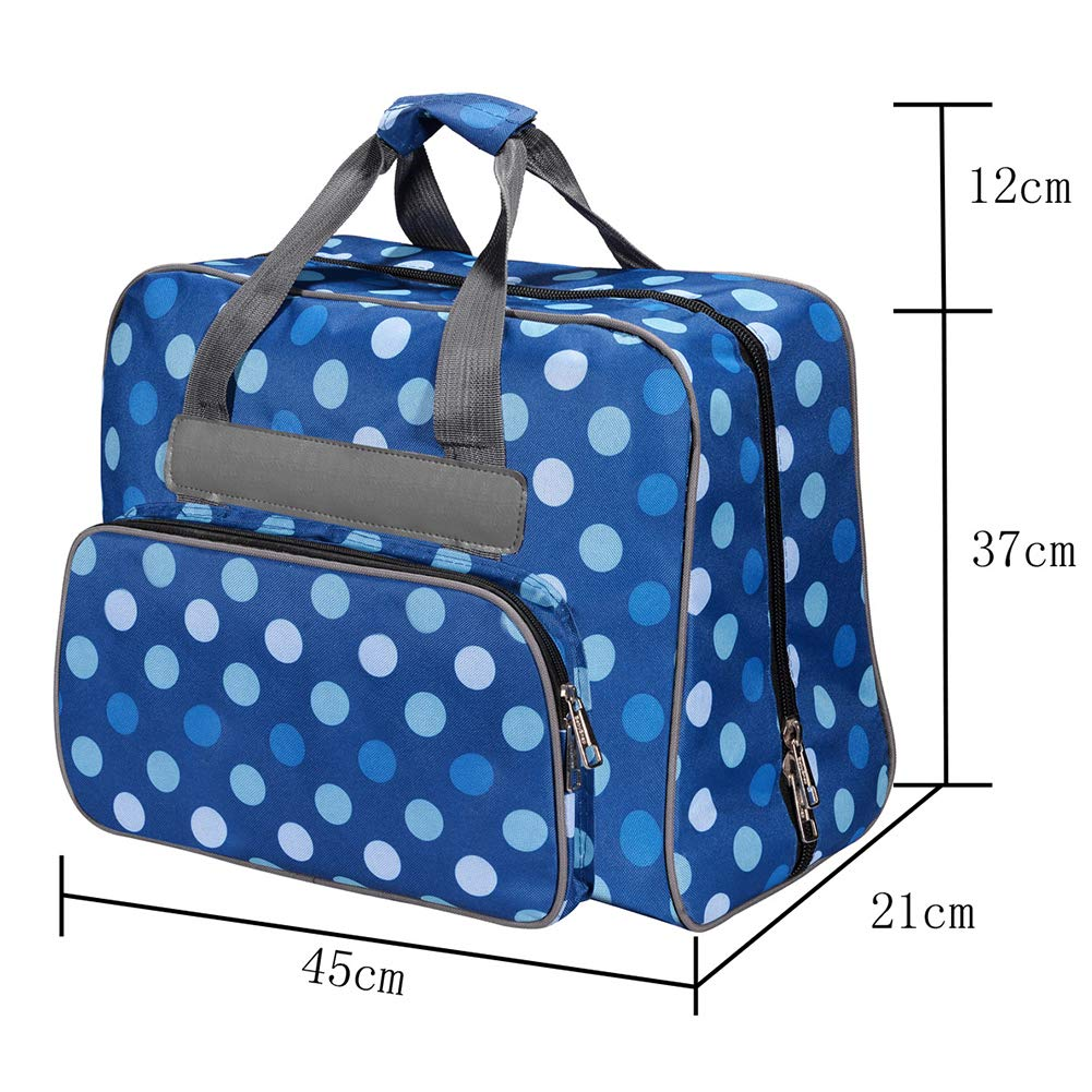 Black Sewing Machine Tote Bag Universal Padded Large Capicity Sewing Machine Bag Storage Cover Carrying Case with Pockets and Handles