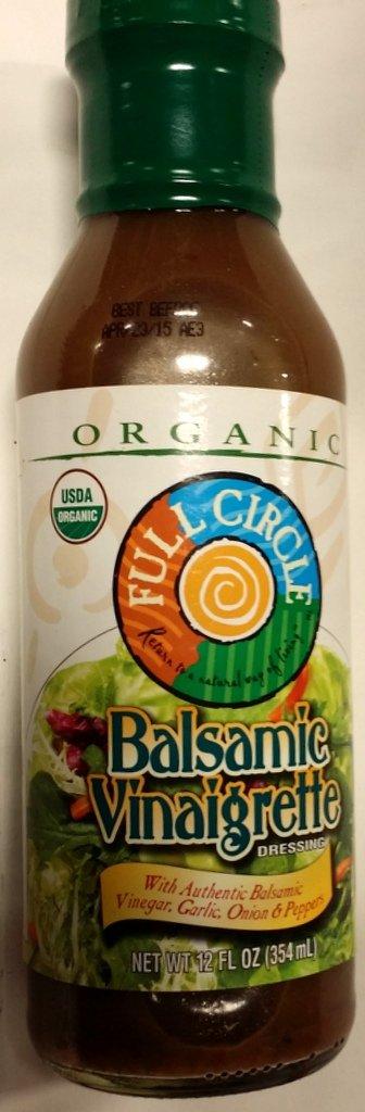 Full Circle Organic Balsamic Vinaigrette 12 Oz (Pack of 2)