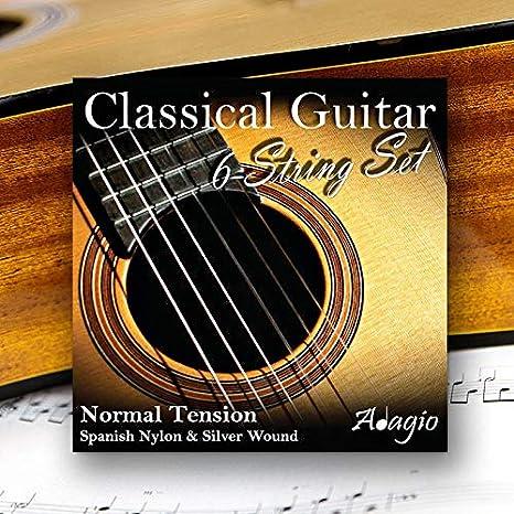 Adagio Pro–Cuerdas de nailon para guitarra clásica de tensión normal