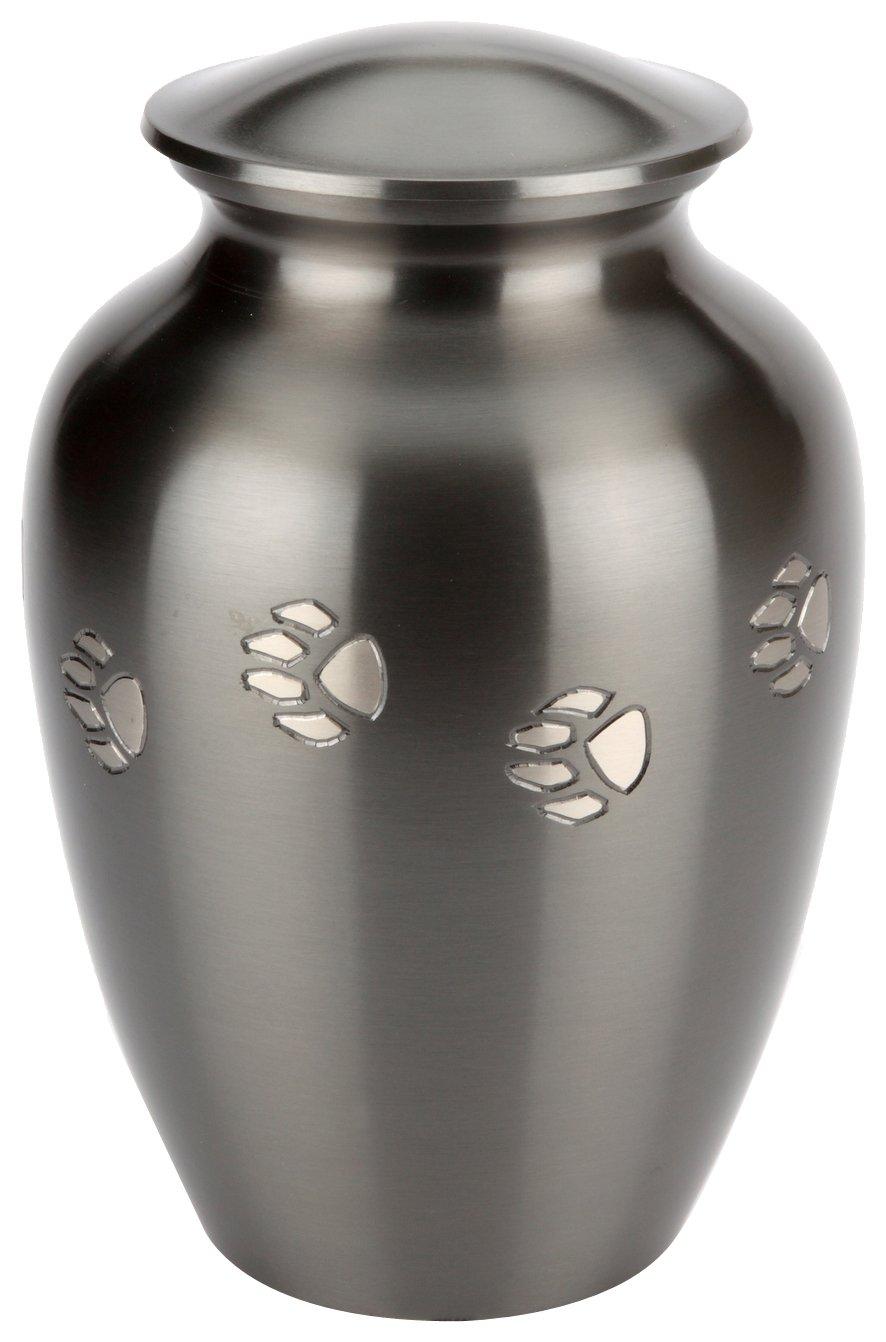 Urns UK Jarrow Urne funéraire en étain pour animal de compagnie 18 cm (Noir) UU500020A