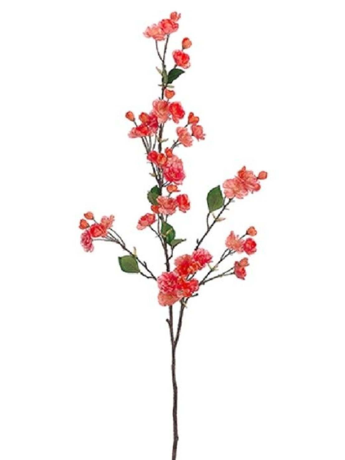 53'' Cherry Blossom Spray Two Tone Coral (Pack of 6) Artificial Silk Flower by Black Decor Home