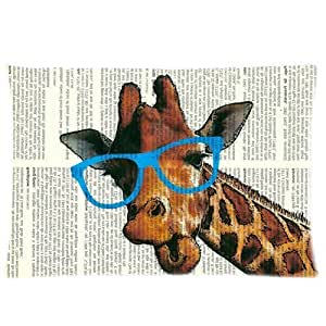 LarryToliver You deserve to have 2 way cloth 20 X 30 inch pillowcase Funny Cute Giraffe with Glasses best pillow cases(twin sides)