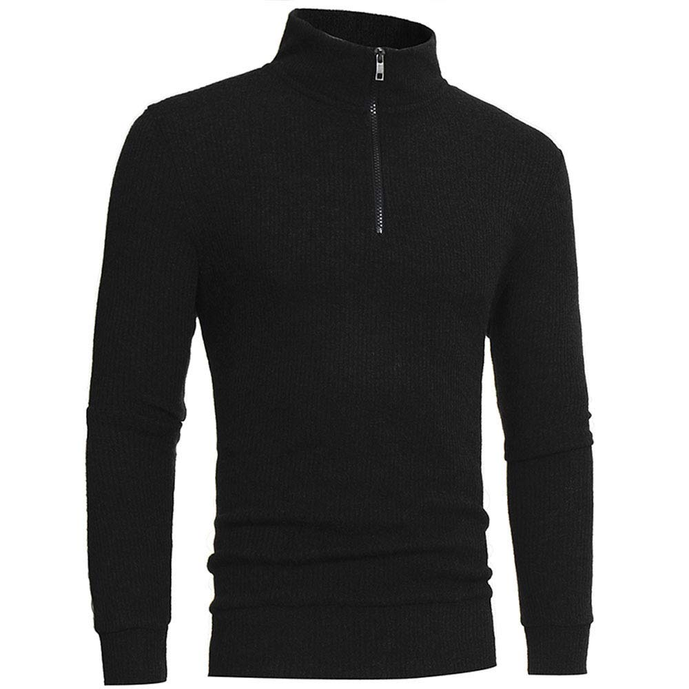 Lotus network Men's Zipper High-Collar Sweaters Tops Boy Warmer Cashmere Sweaters Knitwear by Lotus network