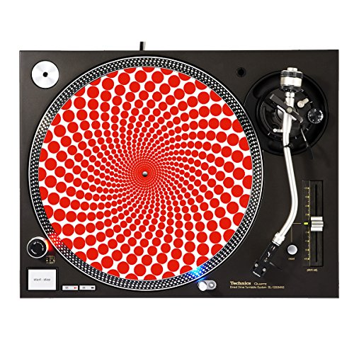 Design Slipmats (Red Dots - DJ Turntable Slipmat)