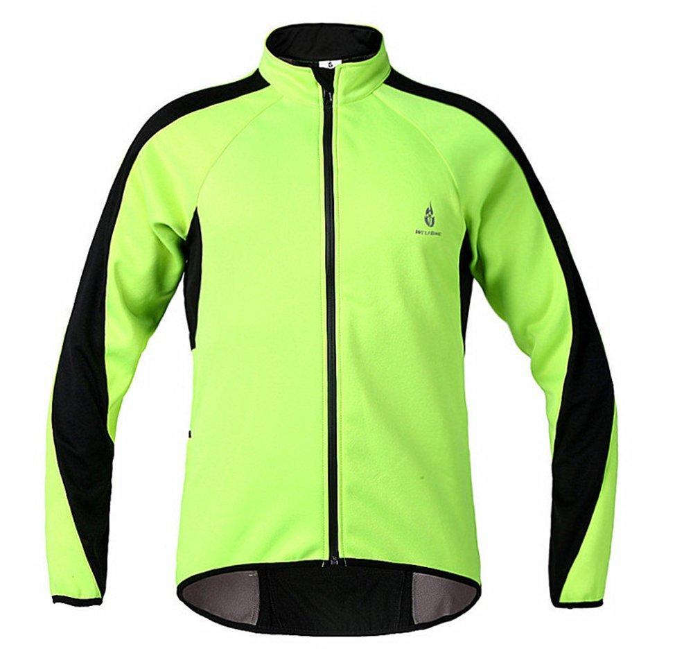 Wolfbike 自転車 サイクルジャケット ウインドブレーカー 軽量 撥水 サイクルウエア 防風 通気 バックポケット 反射材 アウトドア メンズ レディース 全5色 B017XGIQYK XX-Large|ライトグリーン ライトグリーン XX-Large
