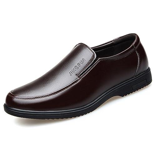 99e570ca830 Chaussure de Cuir d affaire pour Homme Papa Soulier Chaussure au Loisir de  Marche de