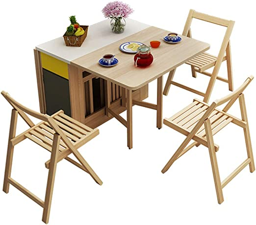 MIMI KING Mesa Plegable de Madera, Muebles de Cocina para el hogar ...