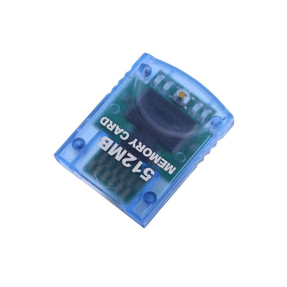 Tarjeta de Memoria Gamecube de 64MB / 512MB, Tarjeta de Memoria de Juegos de Alta Velocidad para la Consola de Juegos Nintendo Wii NGC (512M)