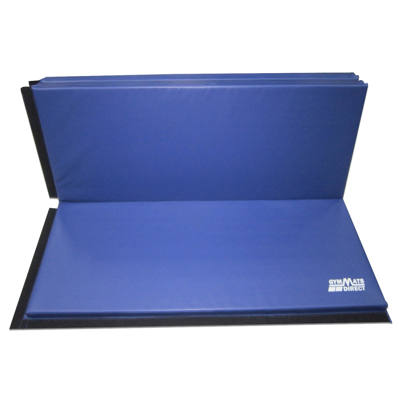 1934e68bdc14 Amazon.com : 77tech 5'x10'x2 Thick Super Large Gymnastics Exercise Tumbling  Mat, 5 Panels Folding Gym mats, Blue : Sports & Outdoors