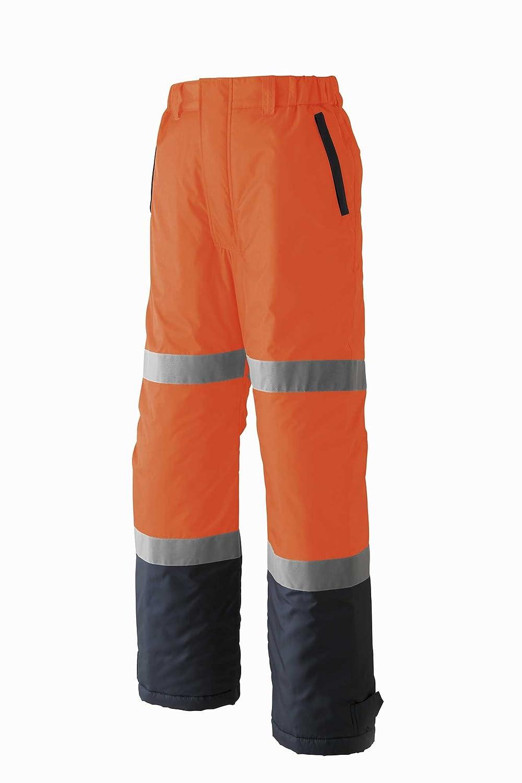 【旭蝶繊維】ASAHICHO 高視認 防水防寒ウエア 防寒パンツ (ノータック脇シャーリング) (E78200) 【S~6Lサイズ展開】 B00OK3VRRI S|ネオンオレンジ ネオンオレンジ S