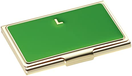 Amazon kate spade new york initial business card holders l kate spade new york initial business card holders l green reheart Images