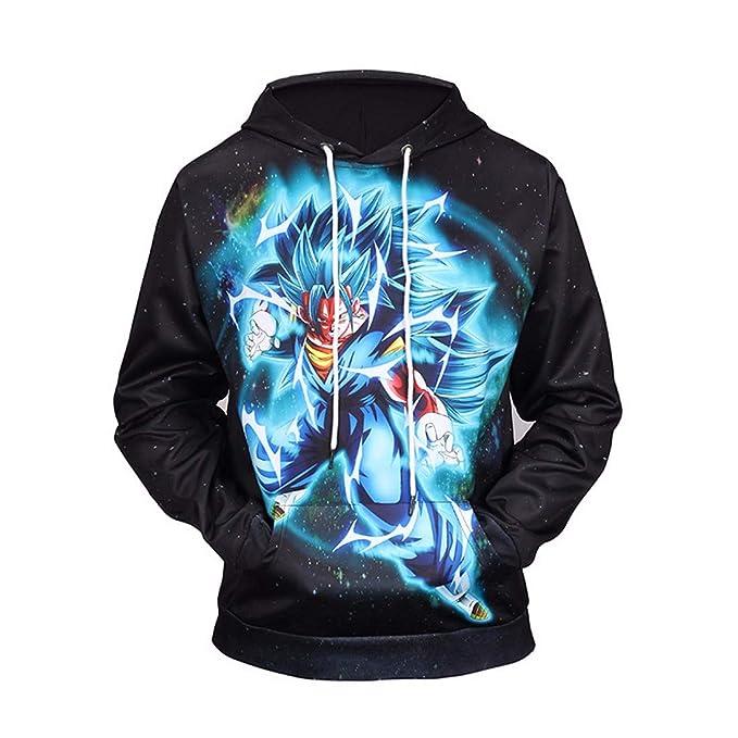 KeeMou Sudadera con Capucha Unisex Goku De Dibujos Animados Imprimir Manga Larga Pullover Chaqueta De Sudadera con Capucha Colorida Ocasional Informal ...